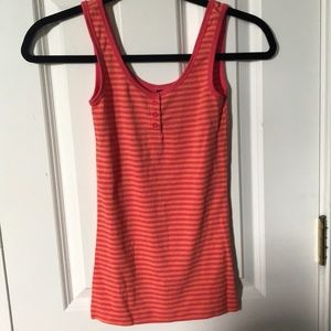 Orange and red tank top